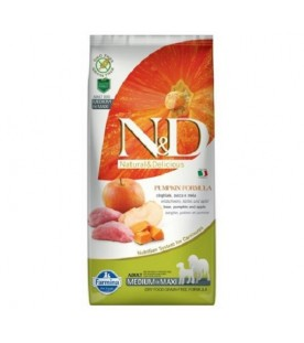 N&D Grain Free Pumpkin Cane Boar & Apple Adult Medium & Maxi 12 kg SEC00098