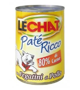 LeChat Cat Patè Ricco con Fegatini di Pollo 400 g. SEC01126