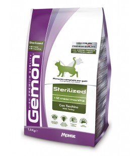 Gemon Gatto Adult Sterilized con Tacchino 1,5 kg SEC01266
