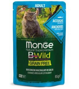 Monge BWild Cat Adult Bocconcini con Acciughe e Ortaggi 85 g. SEC01281