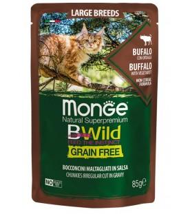 Monge BWild Cat Large Breeds Bocconcini con Bufalo e Ortaggi 85 g. SEC01283