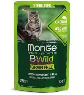 Monge BWild Cat Sterilized Bocconcini con Cinghiale e Ortaggi 85 g. SEC01286