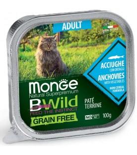 Monge BWild Cat Adult Patè con Acciughe e Ortaggi 100 g. SEC01287