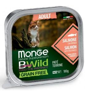 Monge BWild Cat Adult Patè con Salmone e Ortaggi 100 g. SEC01290