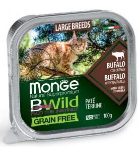 Monge BWild Cat Large Breeds Patè con Bufalo e Ortaggi 100 g. SEC01289