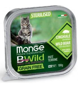 Monge BWild Cat Sterilized Patè con Cinghiale e Ortaggi 100 g. SEC01292