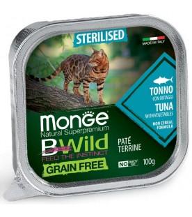 Monge BWild Cat Sterilized Patè con Tonno e Ortaggi 100 g. SEC01291