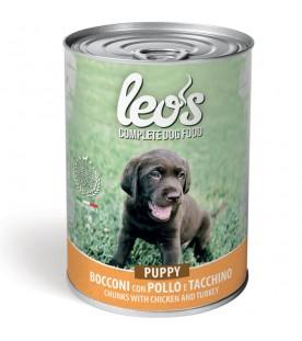 Leo's Cane Bocconi Puppy Pollo e Tacchino 415 g. SEC01307