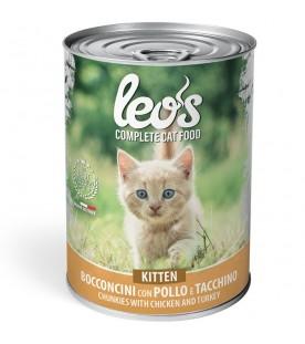 Leo's Gatto Kitten Pollo e Tacchino 415 g. SEC01304