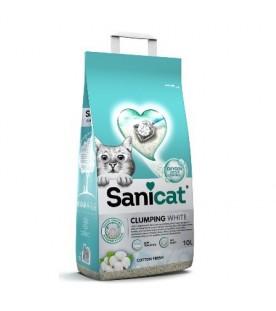 Sanicat Clumping White Cotton 10 lt SEC01392