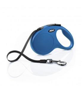 Guinzaglio Flexi New Classic Tape Medium Blu 5 Metri max. 25 kg SEC01484