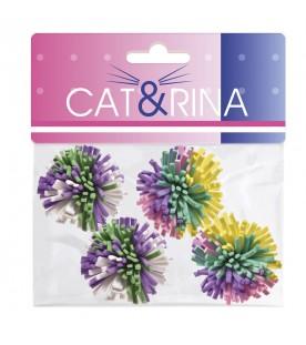 Cat & Rina 4 Palline Riccio Ø 4,5 cm SEC01513