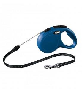Guinzaglio Flexi New Classic Cord Small Blu 5 Metri max. 12 kg SEC01496