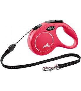 Guinzaglio Flexi New Classic Cord Extra Small Rosso 3 Metri max. 8 kg SEC01507