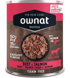 Ownat Wet Line Dog Beef & Salmon 400 g. SEC00569