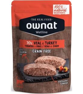 Ownat Wet Line Cat Veal & Turkey 85 g. SEC00574