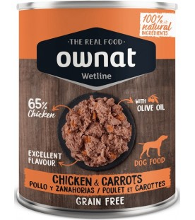 Ownat Wet Line Dog Chicken with Carrots 400 g. SEC00571