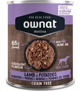 Ownat Wet Line Dog Lamb with Potatoes 400 g. SEC00572
