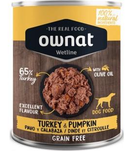 Ownat Wet Line Dog Turkey with Pumpkin 400 g. SEC00570