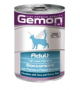 Gemon Cat Bocconcini Adult Tonno e Pesce Bianco 415 g. SEC00562