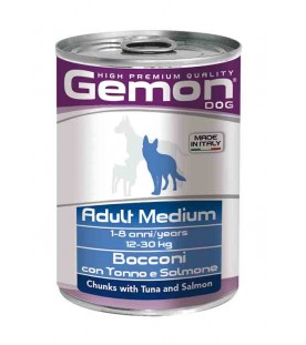 Gemon Dog Bocconi Adult Medium Tonno e Salmone 415 g. SEC00555