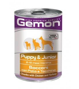 Gemon Dog Bocconi Puppy & Junior Pollo e Tacchino 415 g. SEC00553