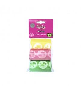 Sacchetti di Ricambio Colorati 3 x 20 Sacchetti City Bag SEC00802