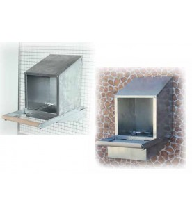 Nido per Galline Ovaiole 1 Foro in Lamiera Zincata cm. 30x30x30 - Art. 100123 SEC00178