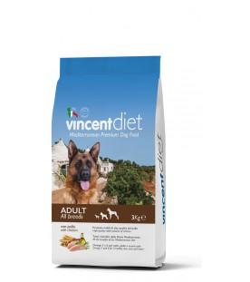 Crocchette per Cani Vincent Diet al Pollo 3 kg SEC00021