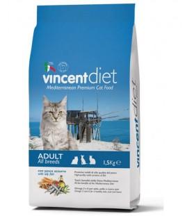 Vincent Diet Cat al Pesce Azzurro 1,5 kg SEC00442
