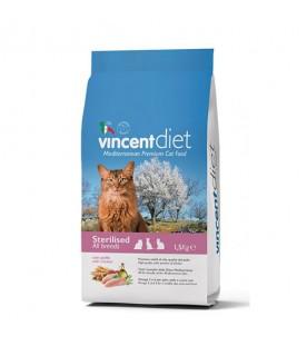 Vincent Diet Cat Sterilizzato al Pollo 1,5 kg SEC00444
