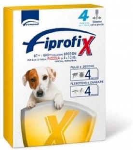 Fipratix per Cani di Taglia Piccola da 4 a 10 kg 4 Pipette SEC00587