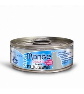 Monge Delicate Cat Pollo con Calamari 80 g. SEC00868