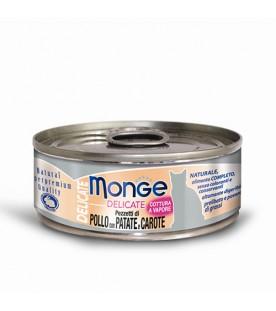 Monge Delicate Cat Pollo con Patate e Carote 80 g. SEC00870