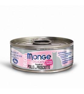Monge Delicate Cat Pollo con Prosciutto 80 g. SEC00872