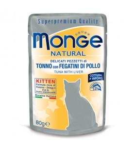 Monge Natural Cat Buste Kitten Tonno con Fegatini di Pollo 80 g. SEC00864