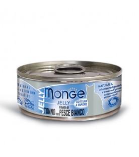 Monge Jelly Cat Filetti di Tonno e Pesce Bianco 80 g. SEC00878