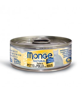 Monge Natural Cat Tonno con Petto di Pollo e Mais 80 g. SEC00883