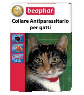 Beaphar Collare Antiparassitario Rosso Gatto 35 Cm SEC00657