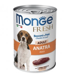 Monge Fresh Dog Bocconi in Paté Anatra 400 g. SEC00952
