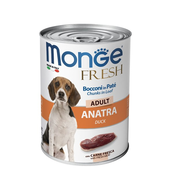 Monge Fresh Dog Bocconi in Paté Anatra 400 g. SEC00952