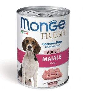 Monge Fresh Dog Bocconi in Paté Maiale 400 g. SEC00949