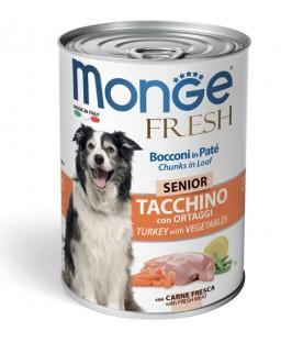 Monge Fresh Dog Bocconi in Paté Tacchino con Ortaggi 400 g. SEC00951
