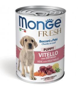 Monge Fresh Dog Bocconi in Paté Vitello con Ortaggi – Puppy 400 g. SEC00947