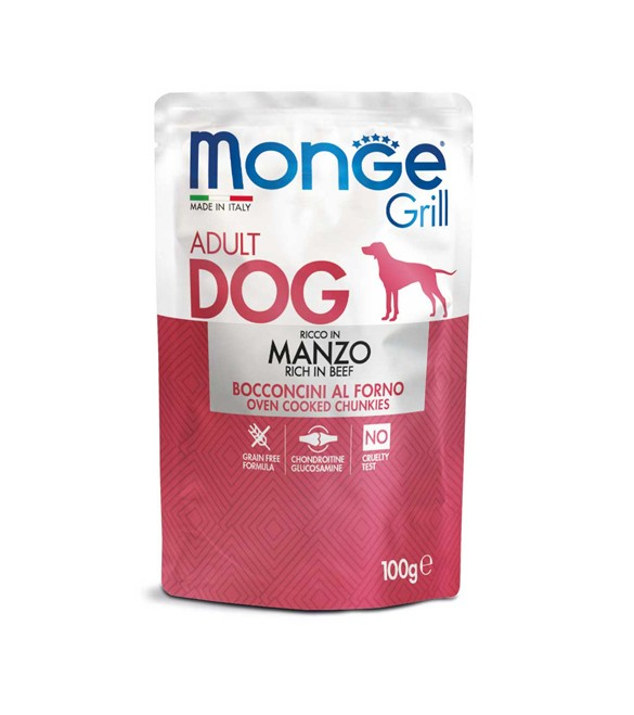 Monge Grill Dog Bocconcini in Jelly Manzo 100 g. SEC00958